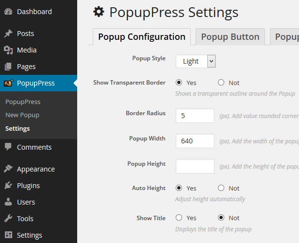 Popup Plugin for WordPress - Popup Press - Popups Slider & Lightbox - 18
